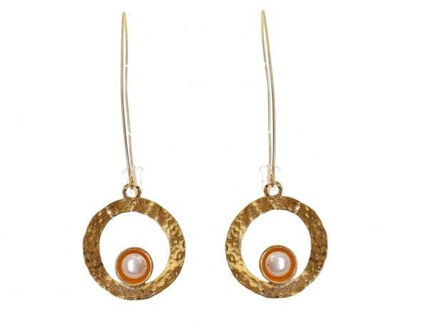 Pearl Loop Drop Earrings
