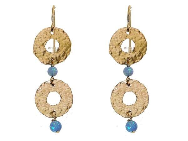 Hoop Drop Opal Earrings