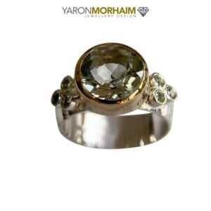 Silver Ring Green Amethyst