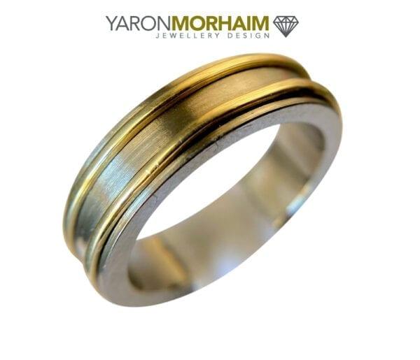 Titanium Gold Ring