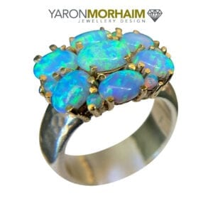 Luxurious Opal Silver & Gold Ring