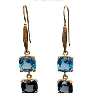 Gemstones Double Drop Earrings