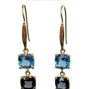 Gemstones Double Drop Earrings