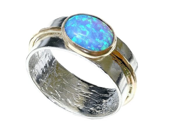 Silver-Gold-Opal-Ring