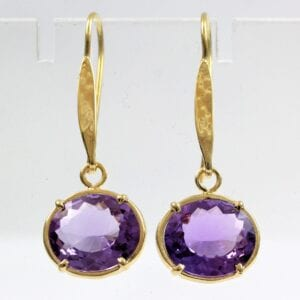 Amethyst Gold Vermeil Earrings