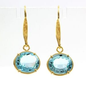 Gold Vermeil Topaz Earrings
