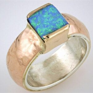 Statement Gold Opal Ring
