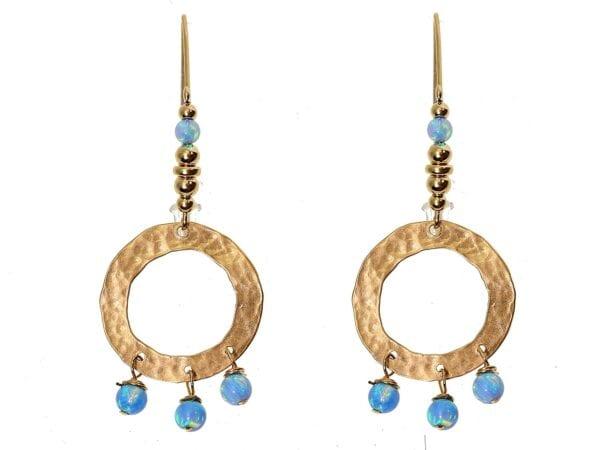 Drop Opal Earrings