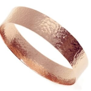 Red Gold Hammered Bangle