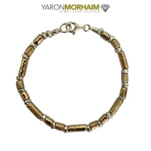 Gorgeous Silver Gold Bracelet