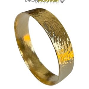 Yellow Gold Hammered Bangle