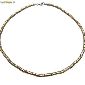 Hammered Silver Gold Necklace