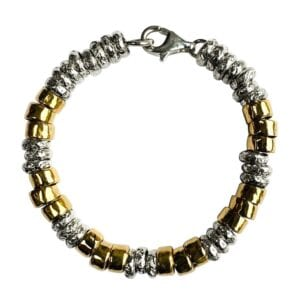 Handmade Silver Gold Bracelet