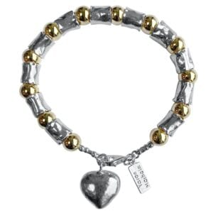 Silver Gold Handmade Bracelet