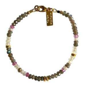 Bracelet Pink Topaz Moonstone