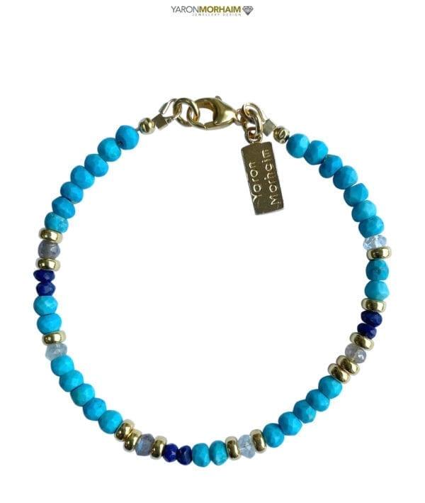 Turquoise Lapis Aquamarine bracelet