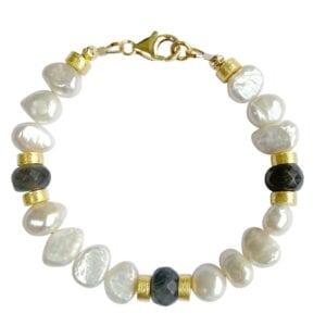 Pearl Labradorite Bracelet