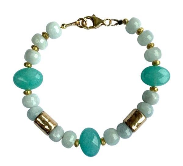 Bracelet Aquamarine Jade Gemstones