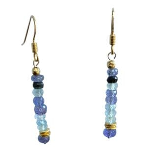Earrings Tanzanite Tourmaline Aquamarine