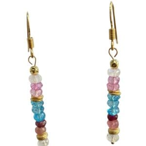 Earrings Topaz Pink tourmaline