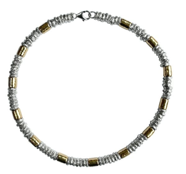 Chanky Silver Gold Necklace