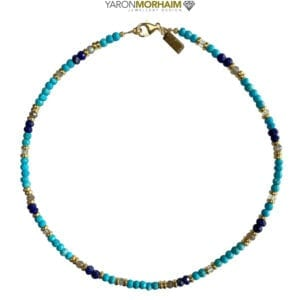 Turquoise Lapis Aquamarine Necklace