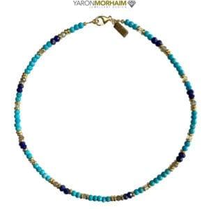Turquoise Lapis Aquamarine Necklace
