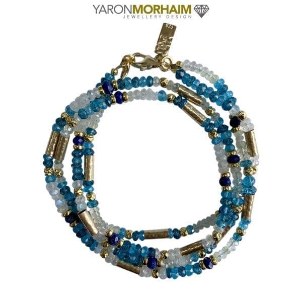 Double Necklace Dazzling Gemstones