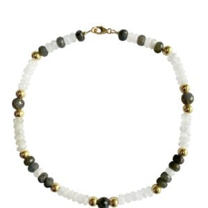 Pearl Labradorite Collar Necklace