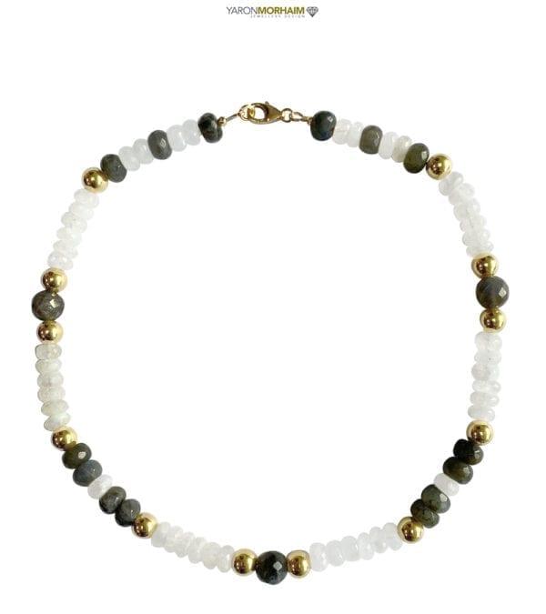 Pearl Labradorite Collar Necklace