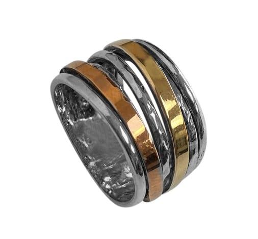 Unique Three Tone Ring