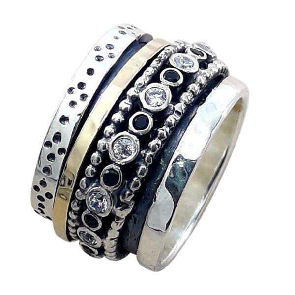 Black Spinel Spinner Ring