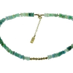 Necklace Blue Apatite Aquamarine