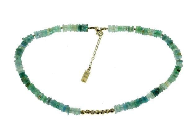 Necklace Blue Apatite Aquamarine