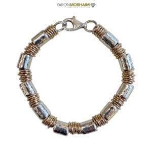 Contemporary Silver Gold Bracelet