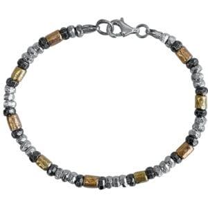 Hammered Bracelet Silver Gold