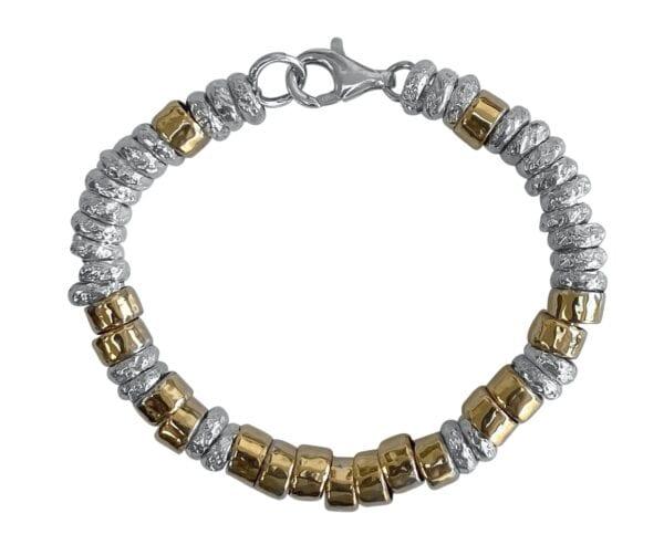 Sumptuous Silver Gold Bracelet