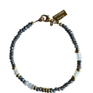 Gold Bracelet With Labradorite Moonstone Gemstones