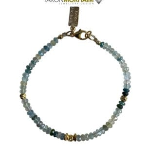 Gold Bracelet Aquamarine & Green Tourmaline
