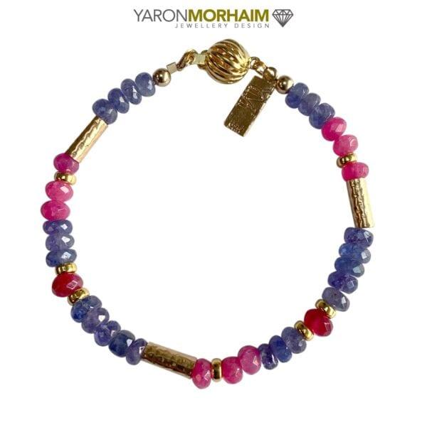 Iolite Pink Topaz bracelet