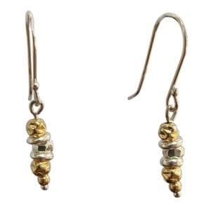 Silver Gold Drop Earrings