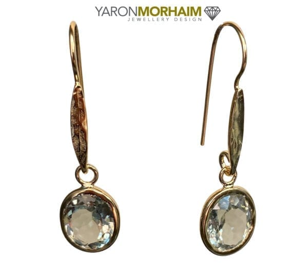 Drop Earrings Green Amethyst