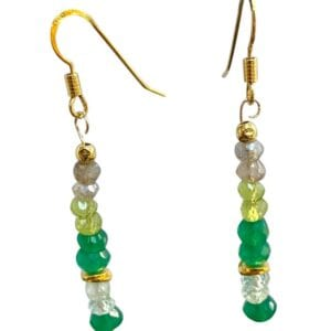 Earrings Peridot Labradorite Aquamarine