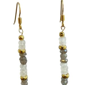 Labradorite moonstone drop earrings