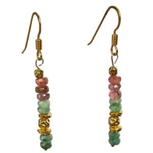 Earrings Tourmaline Emerald
