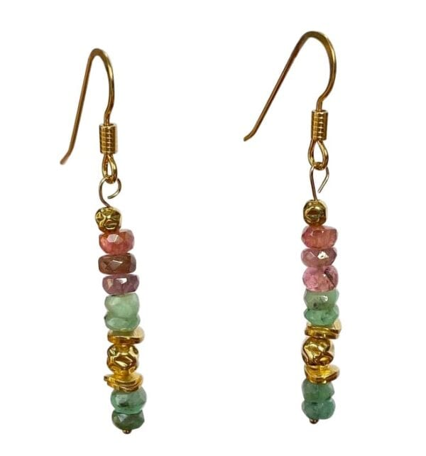 Earrings Tourmaline Emerald
