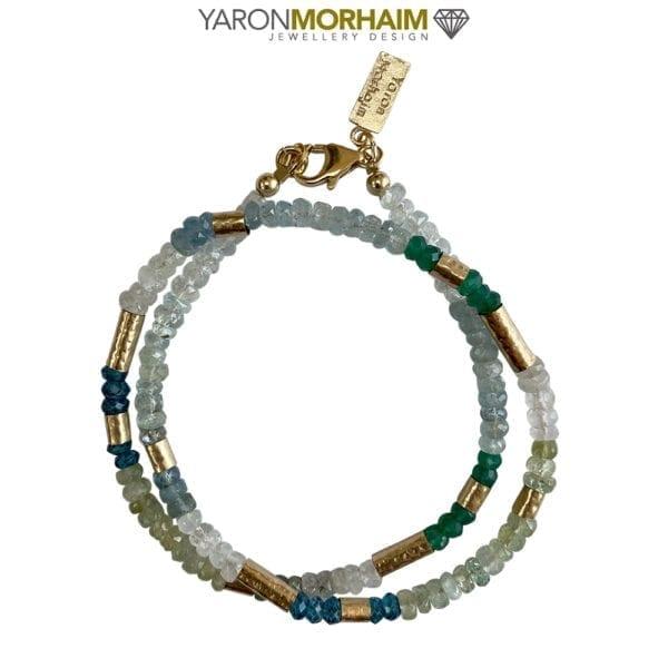 Necklace Aquamarine OnyxGemstones