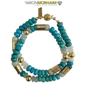 Statement Necklace Turquoise Aquamarine