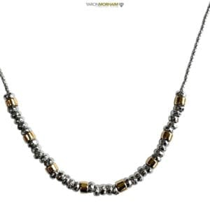 Necklace Silver Gold Nuggets