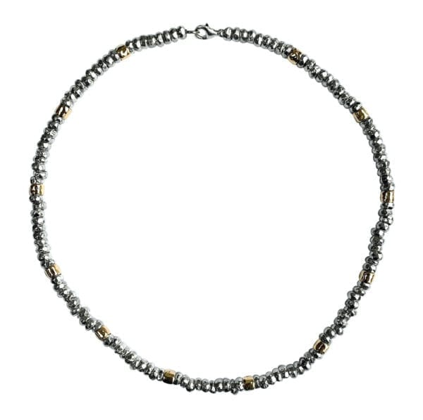 Sumptuous Silver Gold Necklace